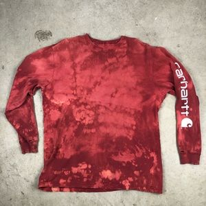 Custom Bleached Carhartt Spell Out Long Sleeve